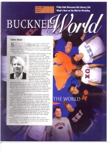 Bucknell World with cover